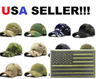 Tactical operator hat with free American Flag patch hook and loop