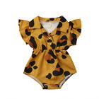 US Newborn Baby Girl Summer Flower Ruffle Blouse Romper Jumpsuit Outfits Clothes