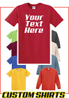 Personalized Custom Print Your Own Text T-Shirt -Customized Tee- FREE SHIP image