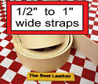 "1/2"" to 1"" Vegetable Tanned Tooling Leather Belt Blanks, Straps, Select Size"