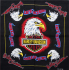 DV Fashions Large 100% Cotton Eagle and Harley Davidson Bandana DV 25 £2.99 GBP on eBay