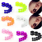 T Gauges Expander Stretcher Body Piercing Ear Expansion Plug Acrylic Jewelry New