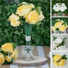 """12"""" Silk Artificial Peony Flowers Bouquet Wedding Party Discounted Centerpieces"""