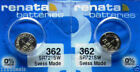 2Pcs RENATA  Watch Batteries New Packaging Authorized Seller Made in Switzerland