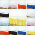 "Plastic TABLE SKIRT 14 feet x 29"" Wedding Linens Dinner Party Decorations SALE"