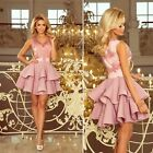 Kyпить Damen Kleid Abendkleid Cocktail Abiball Brautjungfer Party Festlich Kurz Spitze на еВаy.соm