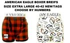 AMERICAN EAGLE BOXER BRIEFS SIZE X LARGE 40-42 CHOOSE BY NUMBER NEW/TAGS