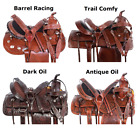 Used Western Saddles 17 18 14 15 16 Pleasure Barrel Racing Racer Horse Tack Set