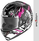 Shark Ridill Drift-R Pink White Motorcycle Helmet Motorbike Asymmetrical Design