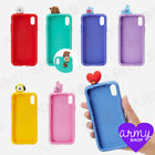 BTS BT21 New Official Goods Characters Figure Silicone iPhone Case + tracking No