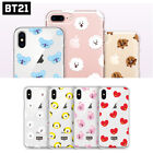 BT21 Pattern official clear jelly phone case iphone xs xr 6 7 8 galaxy s8 9 lg
