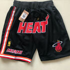 Miami Heat Vintage Basketball Game Shorts NBA Men's NWT Stitched Pants Wade