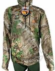 Quarter Zip Thumbhole Men Shirt Poly & Spandex Mossy Oak or Real Tree Camo NEWShirts & Tops - 177874