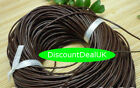 Round Leather Cord Real String Lace Thong Necklace 1.5, 2mm for Jewellery Making