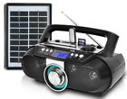 Technical Pro Bluetooth Rechargeable Boombox with Solar Charging Panel
