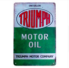 TRIUMPH MOTOR OIL Vintage METAL TIN Motorcycle Advert Retro Sign - 30cm x 20cm €21.17 EUR on eBay