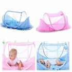 Newborn Folding Infant Kids Baby Crib Canopy Mosquito Net Bed Tent Cot Netting image