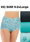 BALI SKIMP-SKAMP 3-PACK BRIEFS  SIZE  #1) 7/LARGE OR #2) 9/2X-LARGE NEW/TAG