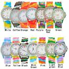 Unisex Silicone Rubber Jelly Wrist Watch Camo For Adult Boys Girls Kid 32