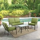 Outdoor Patio Furniture 4 Piece Outside Green Garden Pool Balcony Table Chairs
