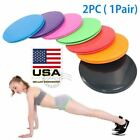 2PCS Gym Dual Sided Gliding Discs Fitness Core Sliders Home Abs Exercise Workout image