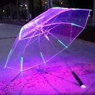 Cool Umbrella With LED Features 8 Rib Light Transparent With Flashlight Handle