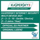 Kaspersky internet security Multi Device 2019 [1 PC 3 PC 5 PC 10 PC | 1 Jahr ] <br/> Zertifizierter Partner - DE Firma - Incl. Rechnung