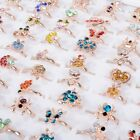 Kyпить 100Pcs Wholesale Bulk Kids Mixed Child Rings Animal Plant Shape Finger Ring Lot на еВаy.соm