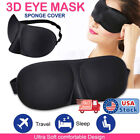 Travel 3D Eye Mask Sleep Soft Padded Shade Cover Relax Sleeping Aid Blindfold hi