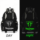 "TRIUMPH MOTORCYCLE Logo Backpack Men Boys Travel Rucksack School Bags 18"" $26.32 USD on eBay"