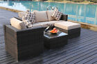 YAKOE RATTAN GARDEN FURNITURE SET SOFA TABLE CHAIRS GARDEN PATIO CONSERVATORY