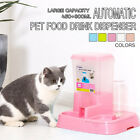 2 in 1 Automatic Pet Food Drink Dispenser Dog Cat Feeder Water Station Bowl Meal