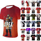 Womens Mens Apex Legends 3D Printed Game T-Shirt Short Sleeve Shirts Casual Tops image