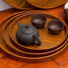 Round Tea Accessories Wooden Natural Retro Fruit Dishes Platter Tea Tray 3 Sizes