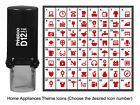 Printtoo Custom Home Appliances Theme Icons Rubber Self Inking Stamp-PR12-HA1 photo