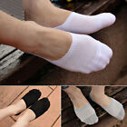 5 Pairs Men Cotton Loafer No Show Non-Slip Invisible Low Cut Boat Short Socks US