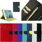 MERCURY GOOSPERY Canvas Leather Folio Case Cover Stand For iPad Mini 1 2 3 AIR 1