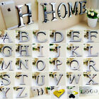 26 Letters Diy 3d Mirror Love Heart Acrylic Wall Sticker Decals Home Room Decor