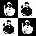 12.9cm x 16cm Elvis Presley Actor Vinyl Decal Funny Car Sticker Black/Silver C3-
