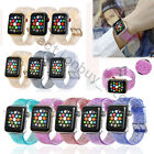 For Apple Watch 38/42mm Shiny Glitter Silicone Strap Band Iwatch Series 12 3 4 5 image