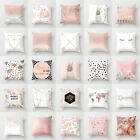 Marble Rose Gold Pink Throw Pillow Case Covers Sofa Car Cushion Home Decor