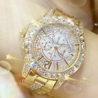 Women Diamond Watch Ladies Luxury Fashion Jewelry Wristwatch Lady Gold Watch image