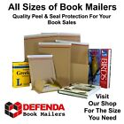 Peel & Seal Book Mailers Postal Postage Boxes Wraps Mailing DVD Blu Ray CD's