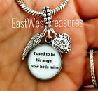 Father dad Memory Memorial gift Pendant for daughter bracelet necklace-European
