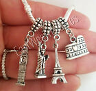 Travel New York London Paris Rome pendant-for bracelet necklace women girls her