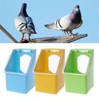Pet Pigeons Water Food Feeder Bird Cage Hang Feeding Box Transparency Cover BO