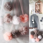 Baby Kids Bed Canopy Yarn Pom Pom Ball for Mosquito Net Bedding Hanging Decor