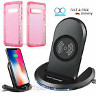 Qi Wireless Fast Charger Charging Pad Stand Dock For Galaxy S10+ iPhone X XS Max
