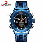 NAVIFORCE Mens Casual Watches Time Display Analog Digital Quartz Wristwatch 9153Wristwatches - 31387