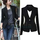 Women's One Button Slim Fit Casual Business Blazer Suit Jacket Coat Outwear Tops